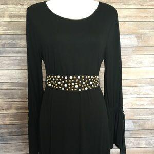 🔥Cupio nice black dress long sleeves Sz L